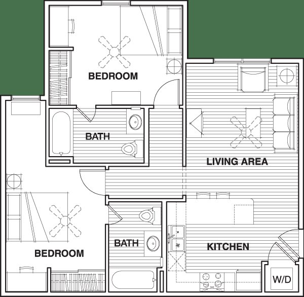 Best 2 Bed 2 Bath 12 Month Lease Callaway Villas With Pictures