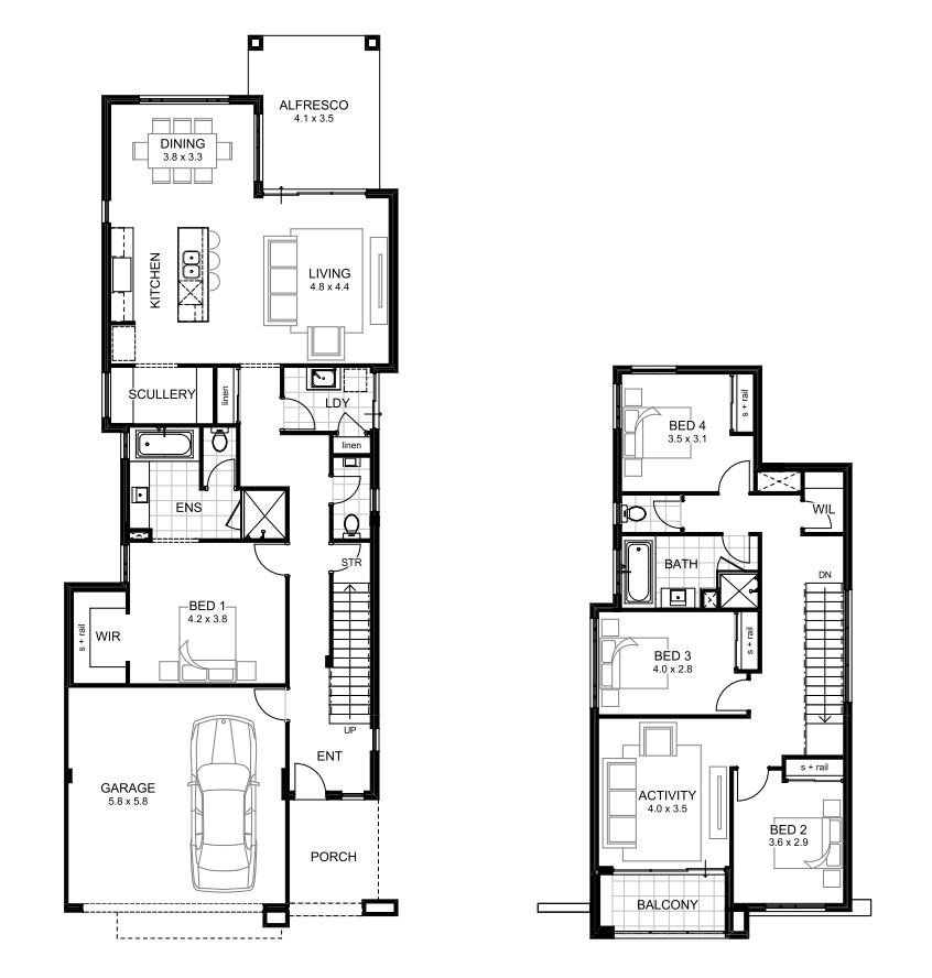 Best Double Storey 4 Bedroom House Designs Perth Apg Homes With Pictures