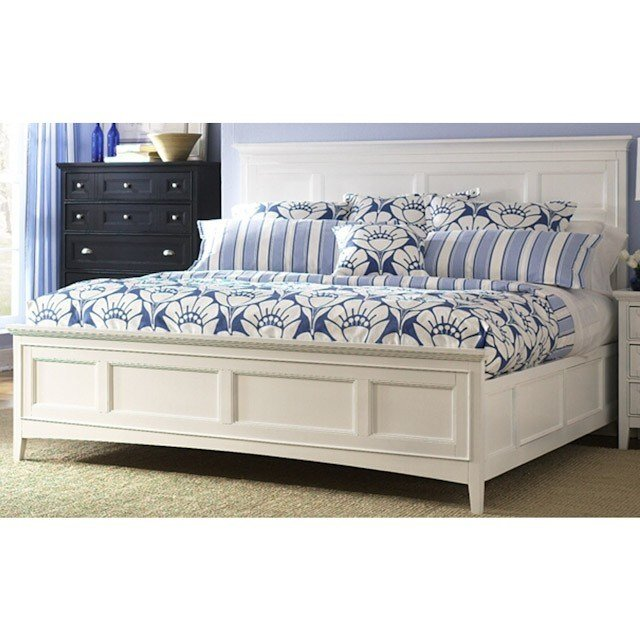 Best Kentwood White Panel Bed Wood Beds Bedroom Bernie With Pictures