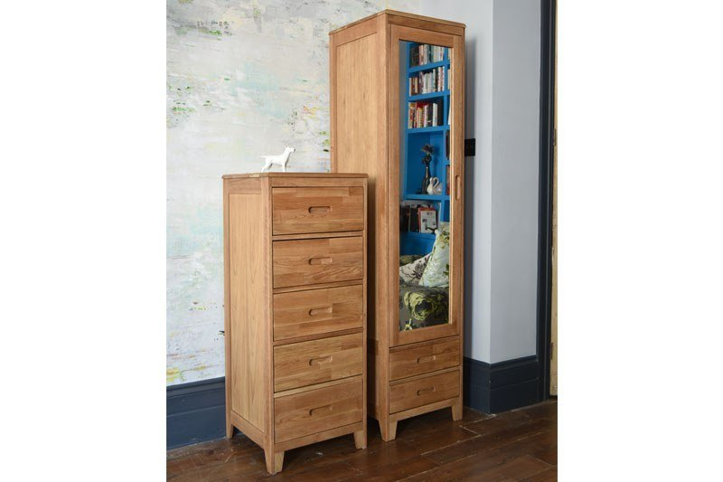 Best Narrow Oak Wardrobe For Small Spaces Futon Company With Pictures