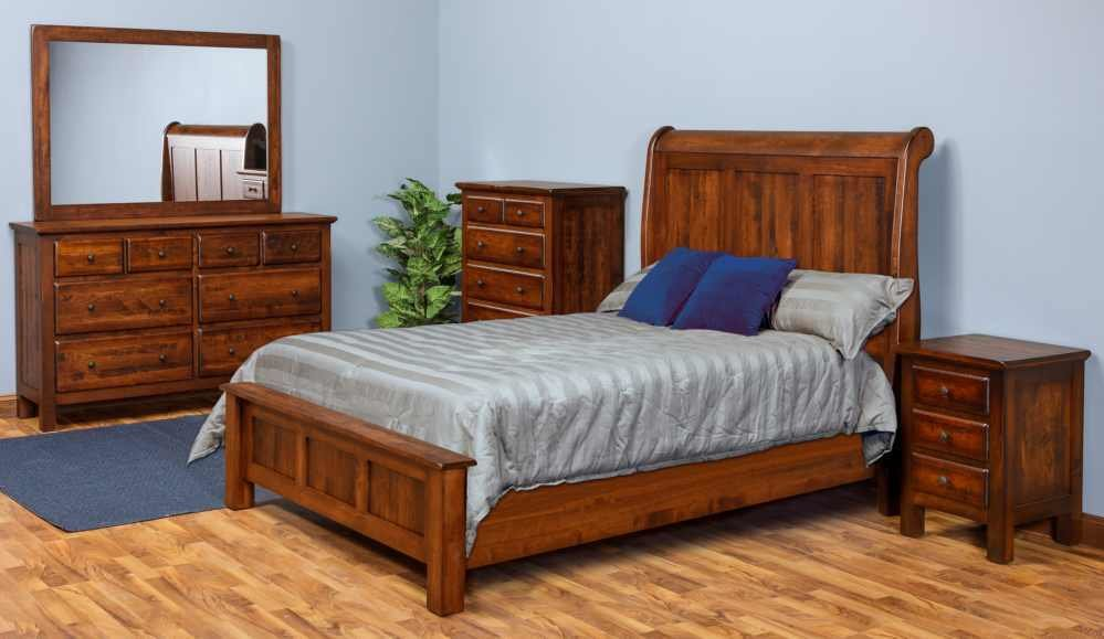 Best Daniel S Amish Lewiston Custom Bedroom Group – Georges With Pictures