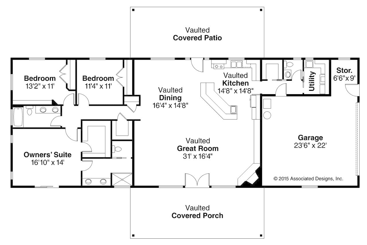 Best Long Rectangular 1 Story 3 Custom Home Builder Digest With Pictures