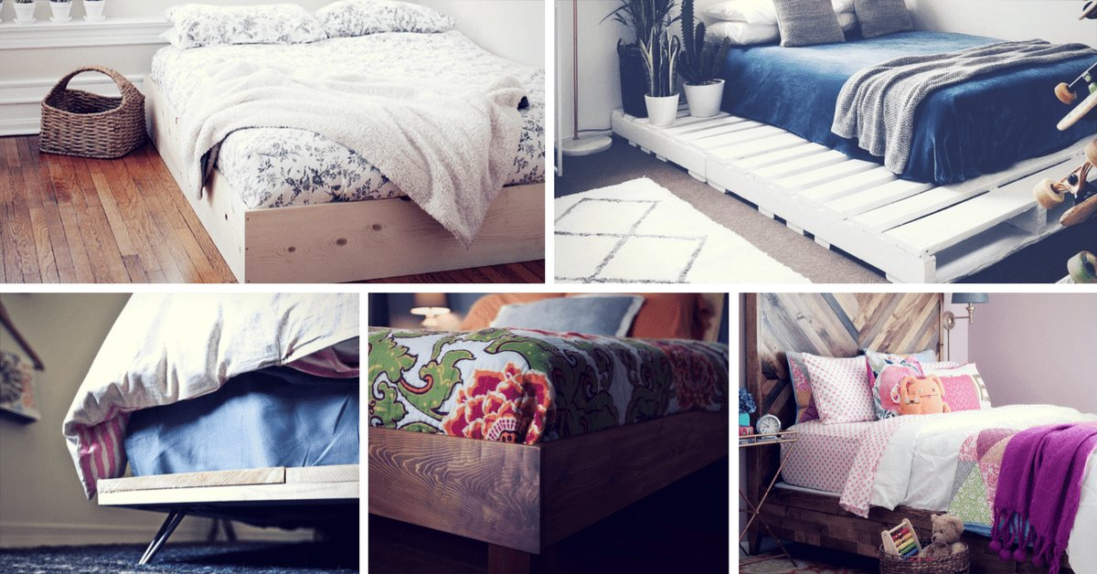 Best 36 Easy Diy Bed Frame Projects To Upgrade Your Bedroom Homelovr With Pictures