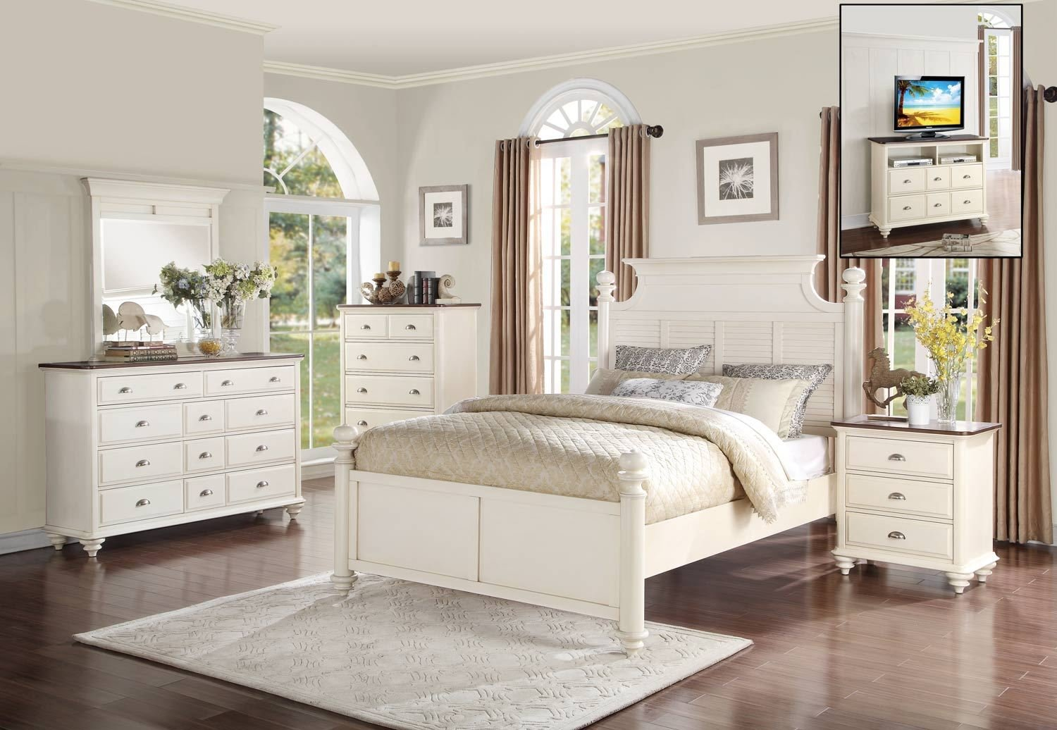 Best Homelegance Floresville Bedroom Set Antique White 1821 With Pictures