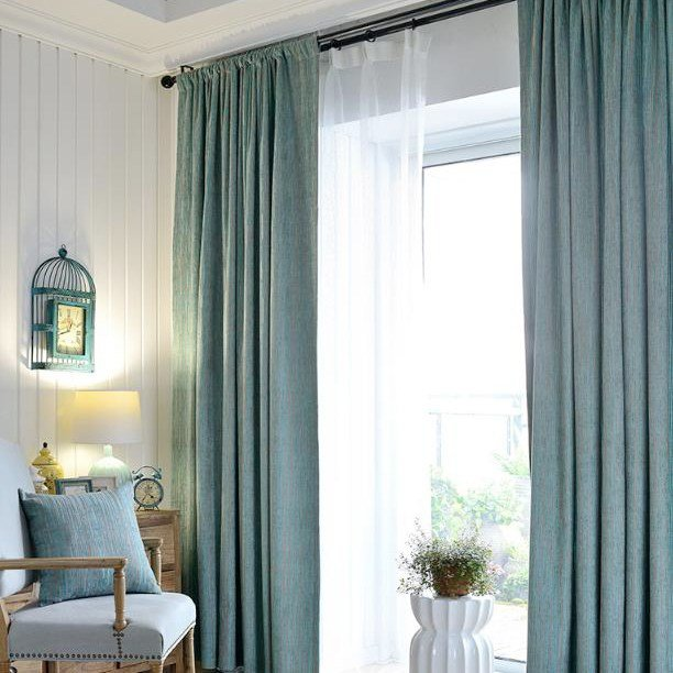 Best Teal Polyester Jacquard Striped Contemporary Patterned With Pictures