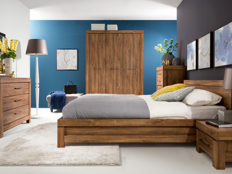 Best Modern King Size Bedroom Furniture Set Chunky Oak Finish Impact Furniture With Pictures