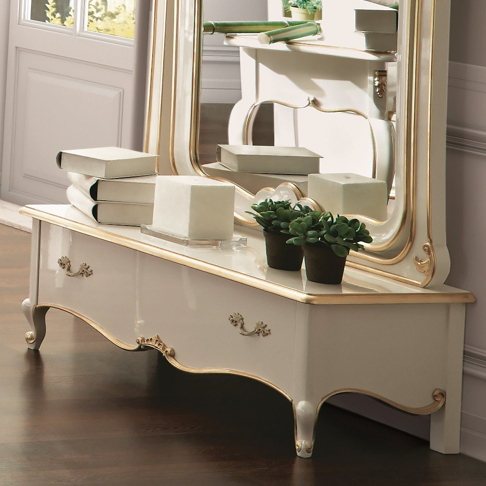 Best White Louis Reproduction Bedroom Dressing Mirror With Pictures