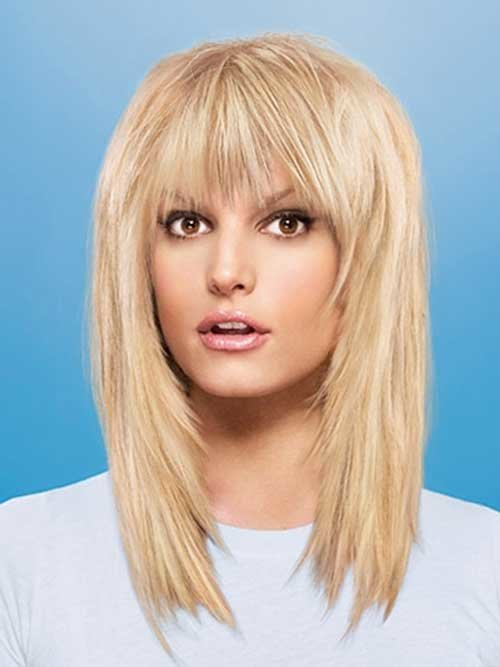 Free 20 Best Medium Hair Cuts With Bangs Hairstyles And Wallpaper