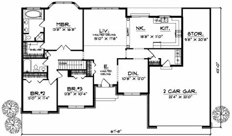 Best Ranch House Plan 3 Bedrooms 2 Bath 1746 Sq Ft Plan 7 150 With Pictures
