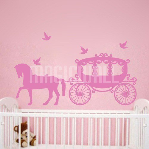 Best Wall Stickers Princess Carriage Kids Room Magic Wall Decals Canada With Pictures