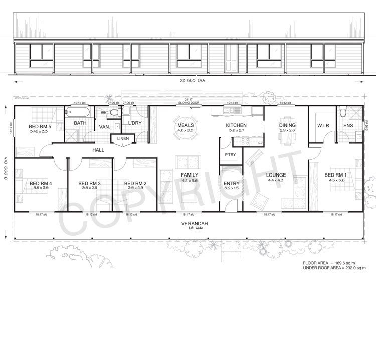 Best Daintree 5 Met Kit Homes 5 Bedroom Steel Frame Kit Home Floor Plan Met Kit Homes With Pictures