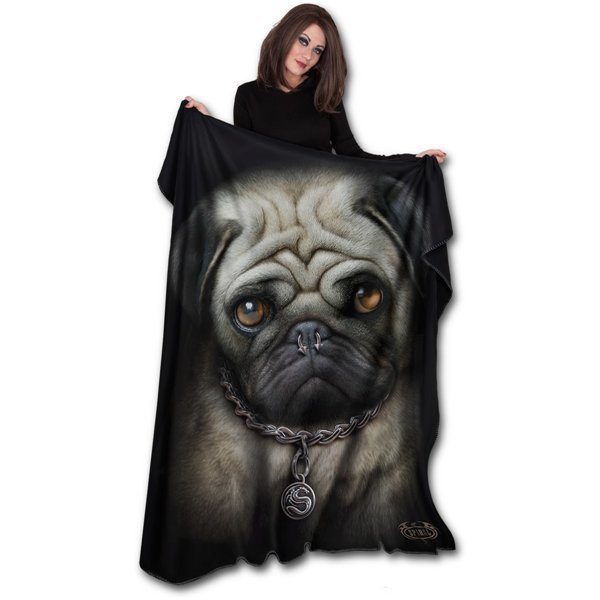 Best Official Pug Life Fleece Blanket Buy Online On Offer With Pictures