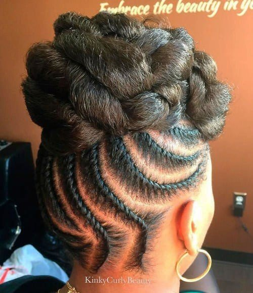 Free African American Flat Twist Updo Hairstyles New Natural Wallpaper