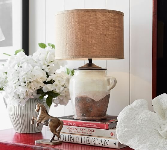 Best Saratoga Bedside Lamp Base Pottery Barn With Pictures