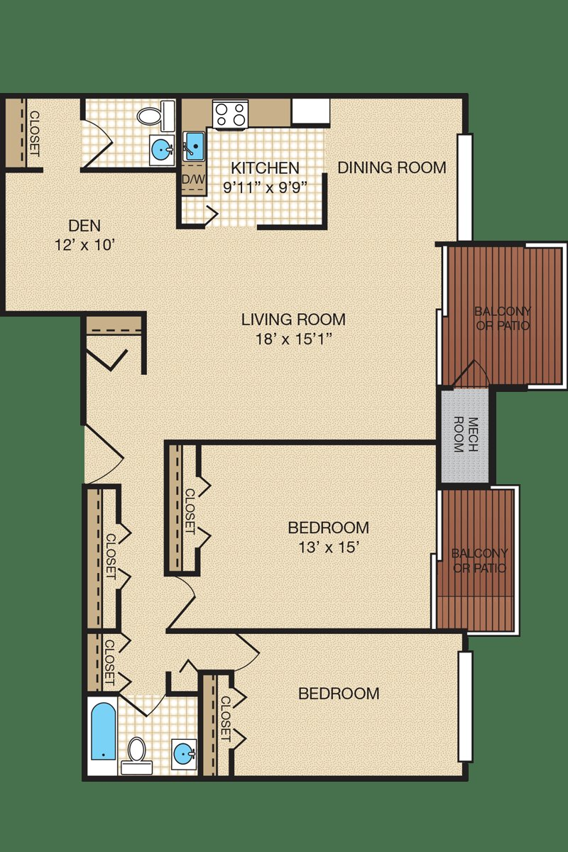 Best Two Bedroom Apartment Floor Plans Portabello Apartments With Pictures