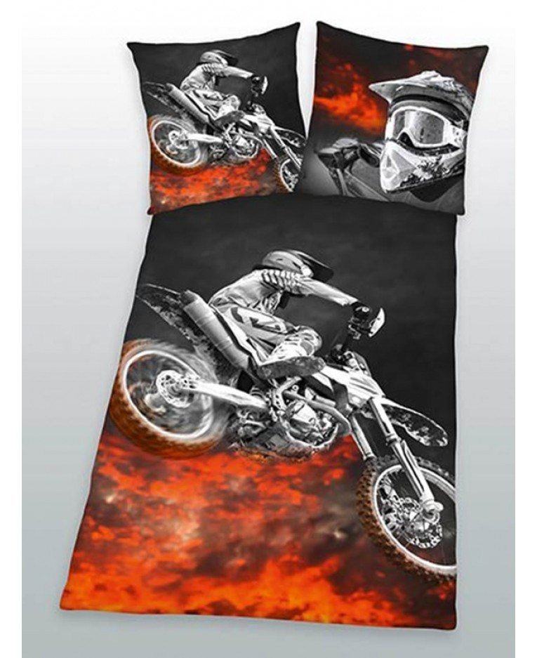 Best Motorbike Single Duvet Cover And Pillowcase Set Bedding With Pictures