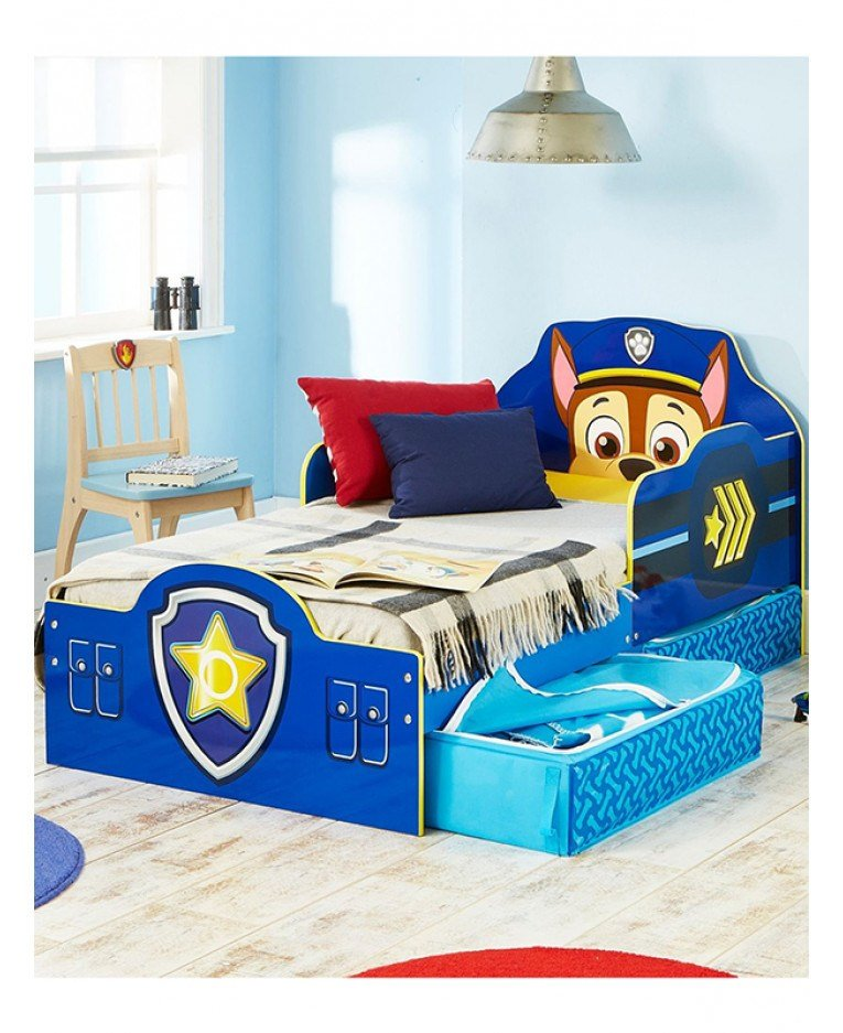 Best Paw Patrol Chase Toddler Bed With Storage Bedroom With Pictures