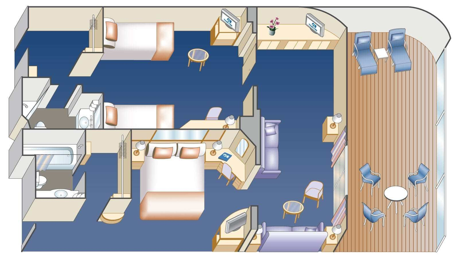 Best Two Bedroom Family Suite Princess Cruises With Pictures