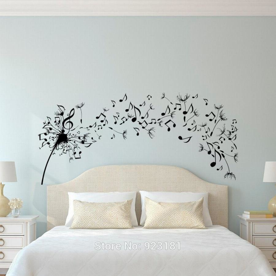 Best Dandelion Music Note Flower Wall Art Sticker Decal Home With Pictures