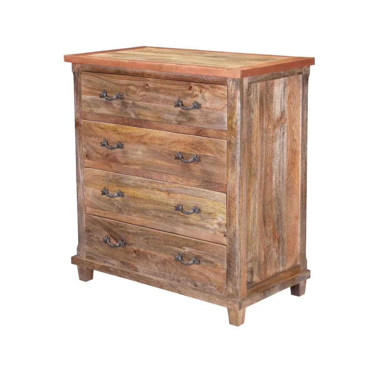 Best Williamsburg Handcrafted Rustic Solid Wood 4 Drawer With Pictures