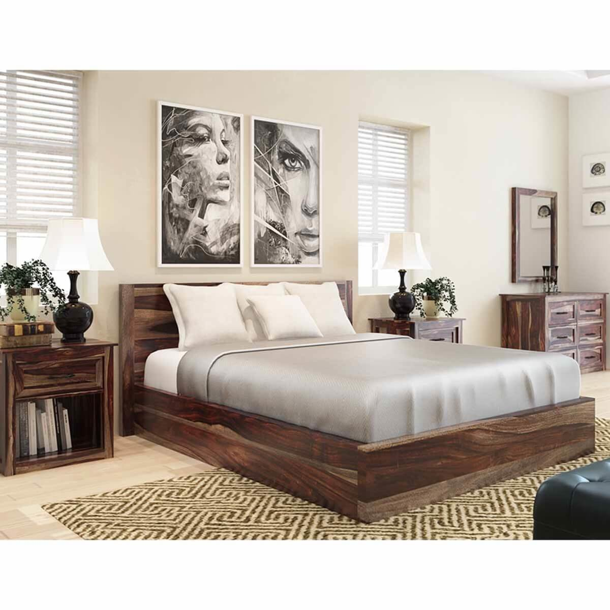 Best Jamaica Rustic Solid Wood 5 Piece King Size Bedroom With Pictures