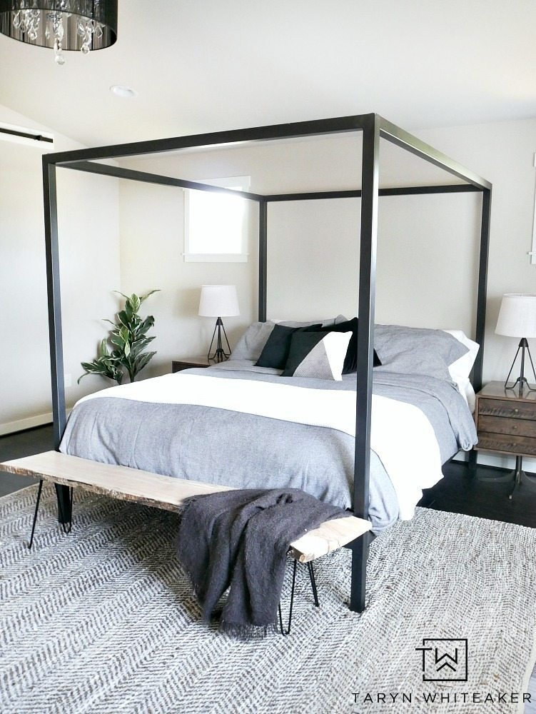 Best Master Bedroom Update Steel Canopy Bed And Bedding With Pictures