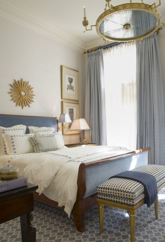 Best 20 Deluxe Blue And Gold Bedroom Designs With Pictures