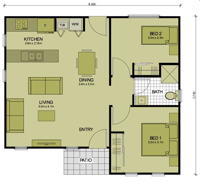 Best 2 Bedroom Barton Sydney Granny Flats With Pictures