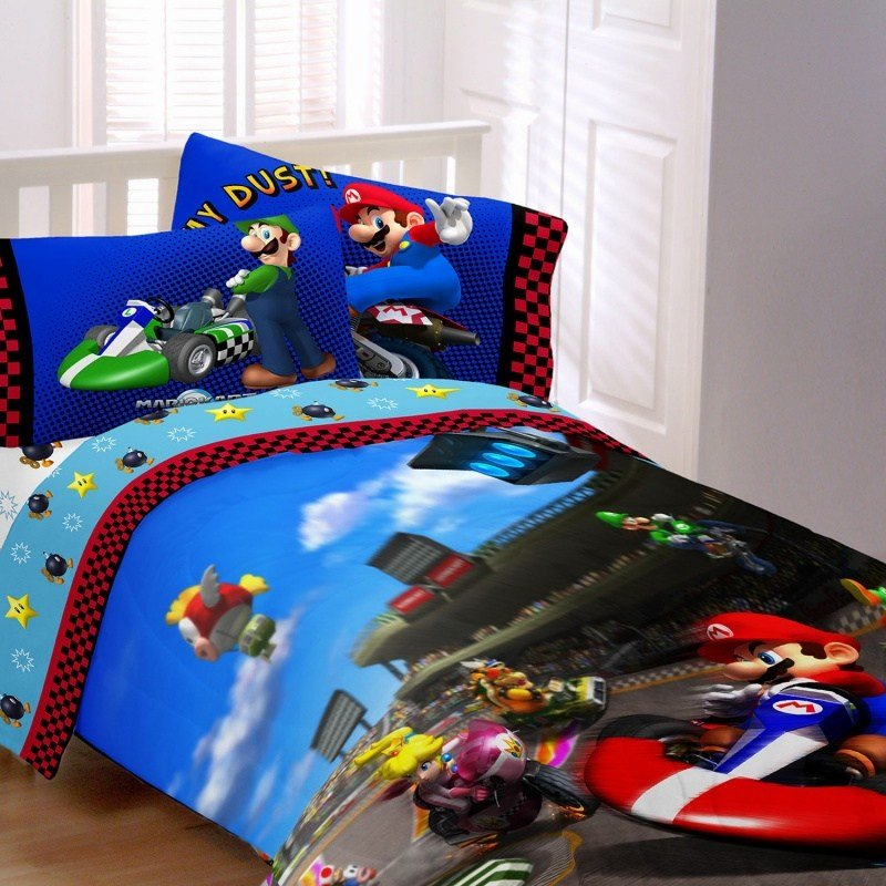 Best Super Mario Bedding Race Is On Kids Bedding With Pictures