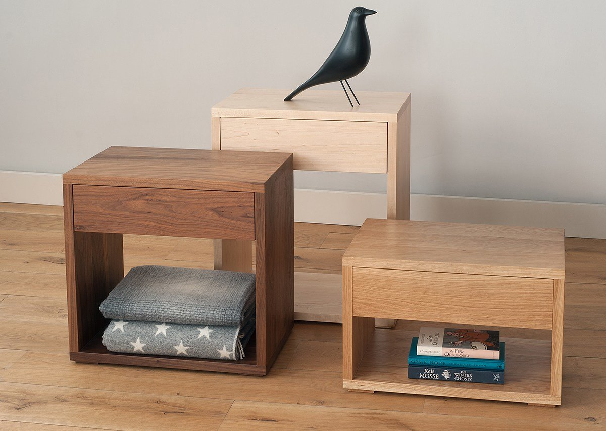 Best Cube Modern Bedside Drawer Table Natural Bed Company With Pictures