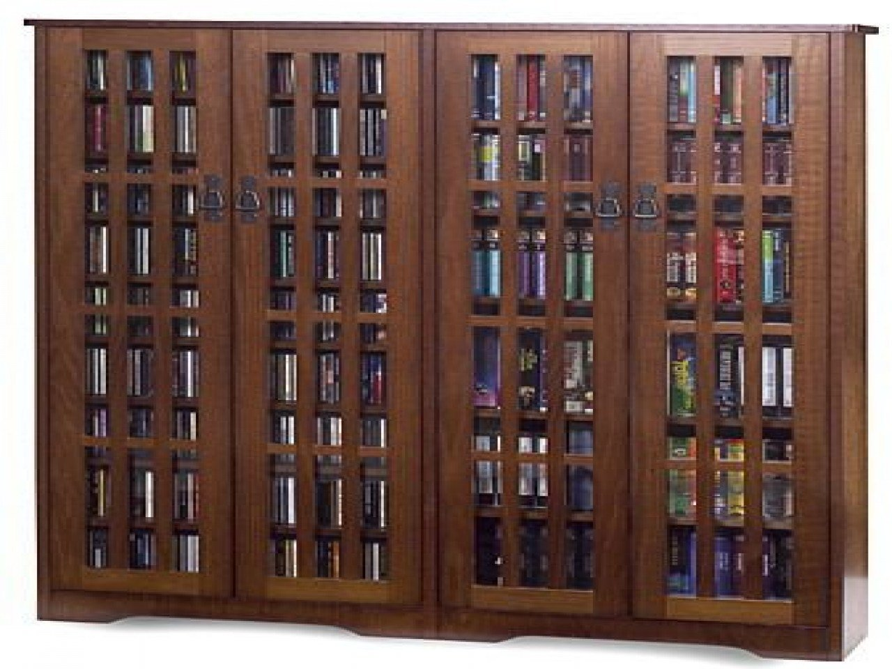 Best Walnut Veneer Bookcase Dvd Storage Cabinets With Glass With Pictures