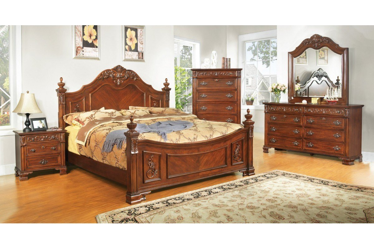 Best Bedroom Sets Linden Place Cherry King Size Bedroom Set With Pictures