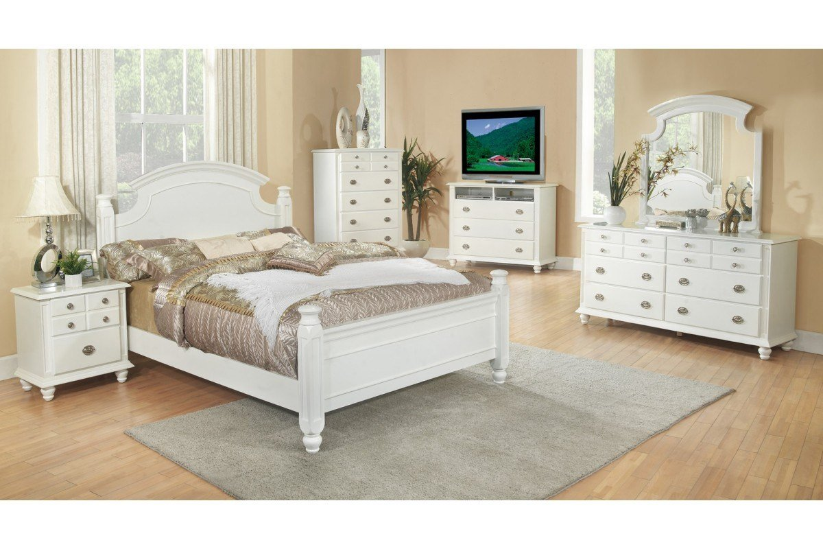 Best Bedroom Sets Freemont White Full Size Bedroom Set With Pictures