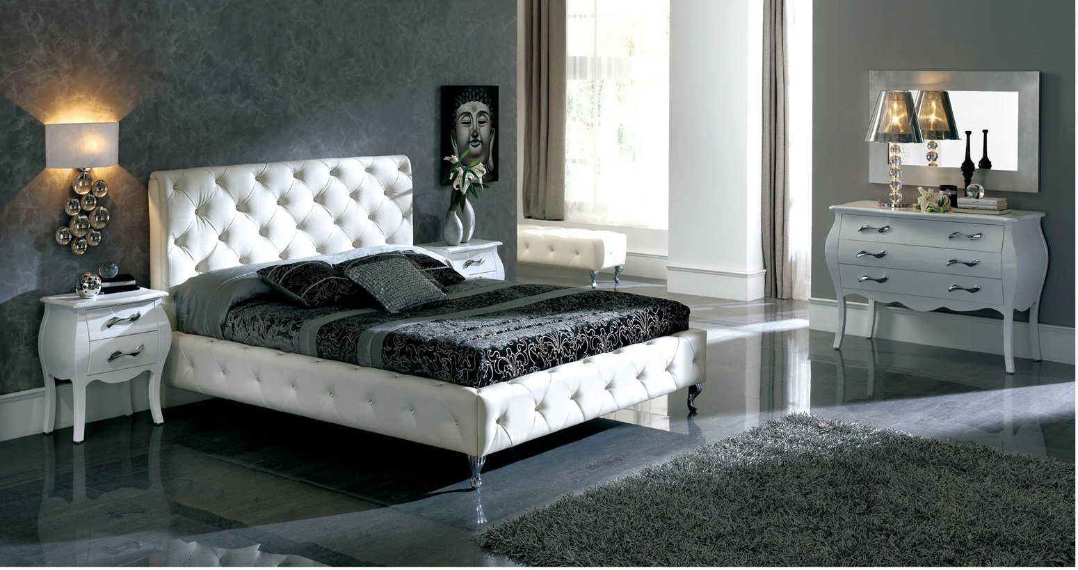 Best 621 Nelly White Bedroom Furniture Set By Dupen Spain With Pictures