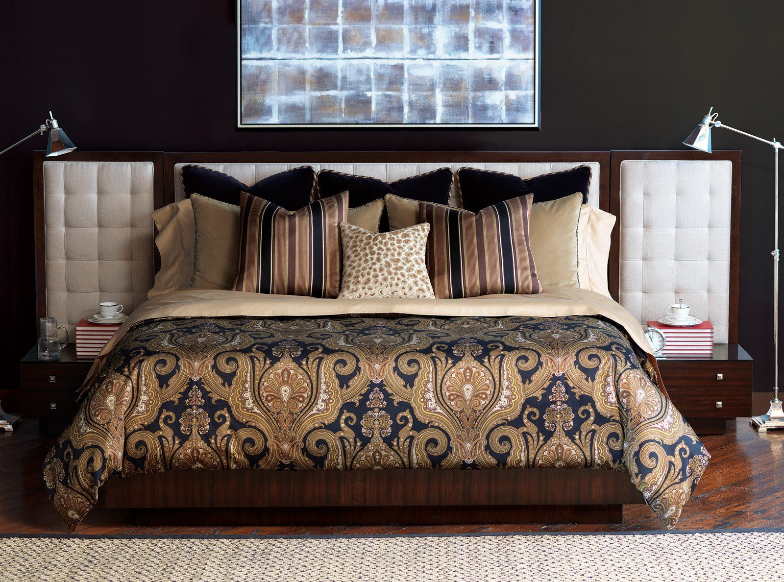 Best Black And Gold Bedrooms المرسال With Pictures