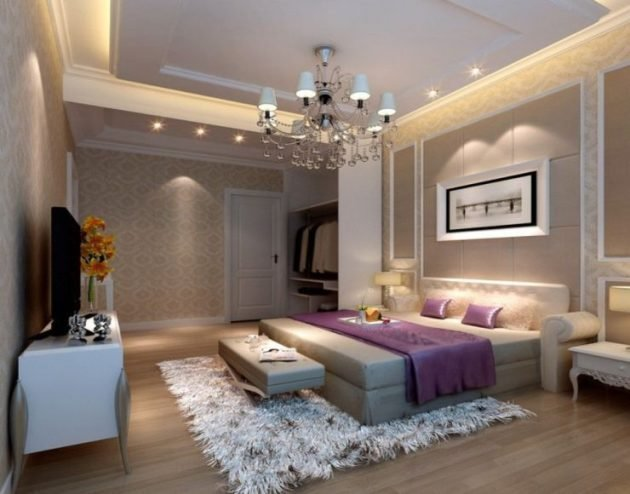 Best 16 Fascinating Bedrooms With Extravagant Chandeliers With Pictures
