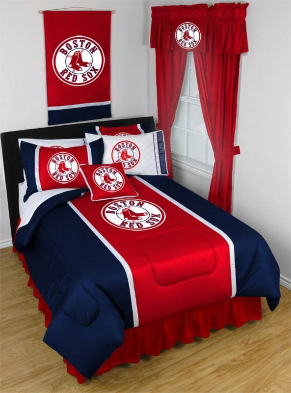 Best Boston Red Sox Mlb Sidelines Comforter By Sports Coverage With Pictures