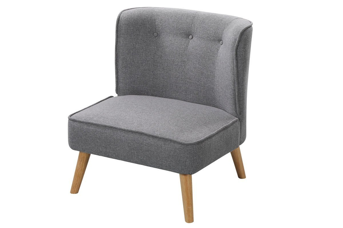 Best Milford Light Grey Fabric Occasional Accent Bedroom Chair With Pictures