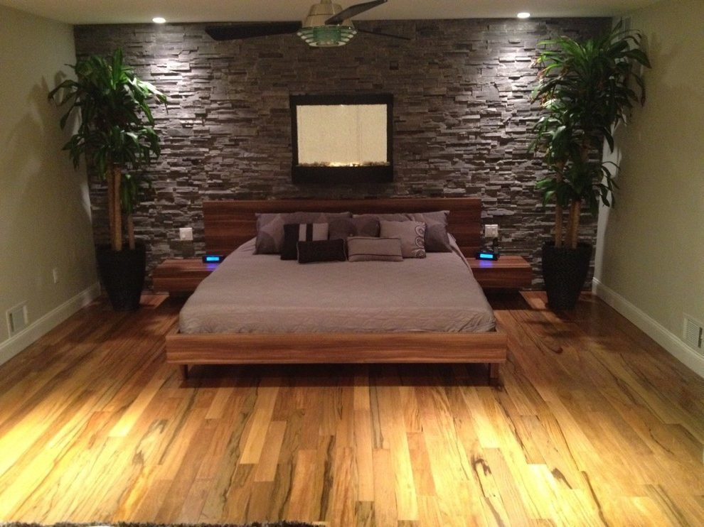 Best Tiger Wood Bedroom Modern With Cultured Stone Peruvian With Pictures