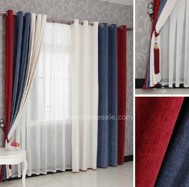 Best Boys Bedroom Curtains In Red Blue And White Combined With Pictures