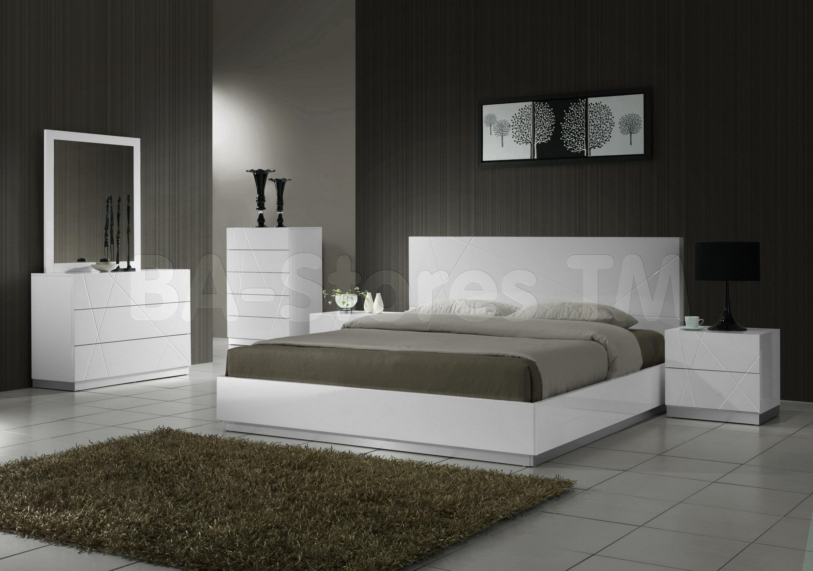 Best Contemporary White Lacquer Bedroom Furniture Furniture With Pictures