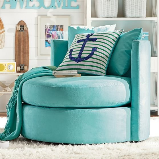 Best Blue Bedroom Accessories Chairs For Teenage Girls Round With Pictures