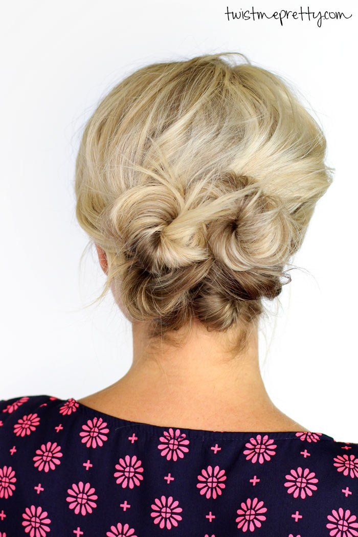 Free Knotted Updo For Short Hair Twist Me Pretty Wallpaper