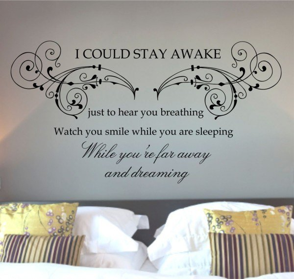 Best Creative And Inspiration Wall Quotes For Bedroom – Themes With Pictures