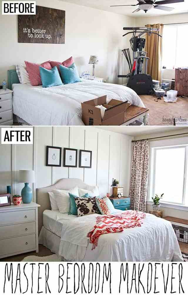 Best Awesome Bedroom Makeovers Before And After Pics The With Pictures
