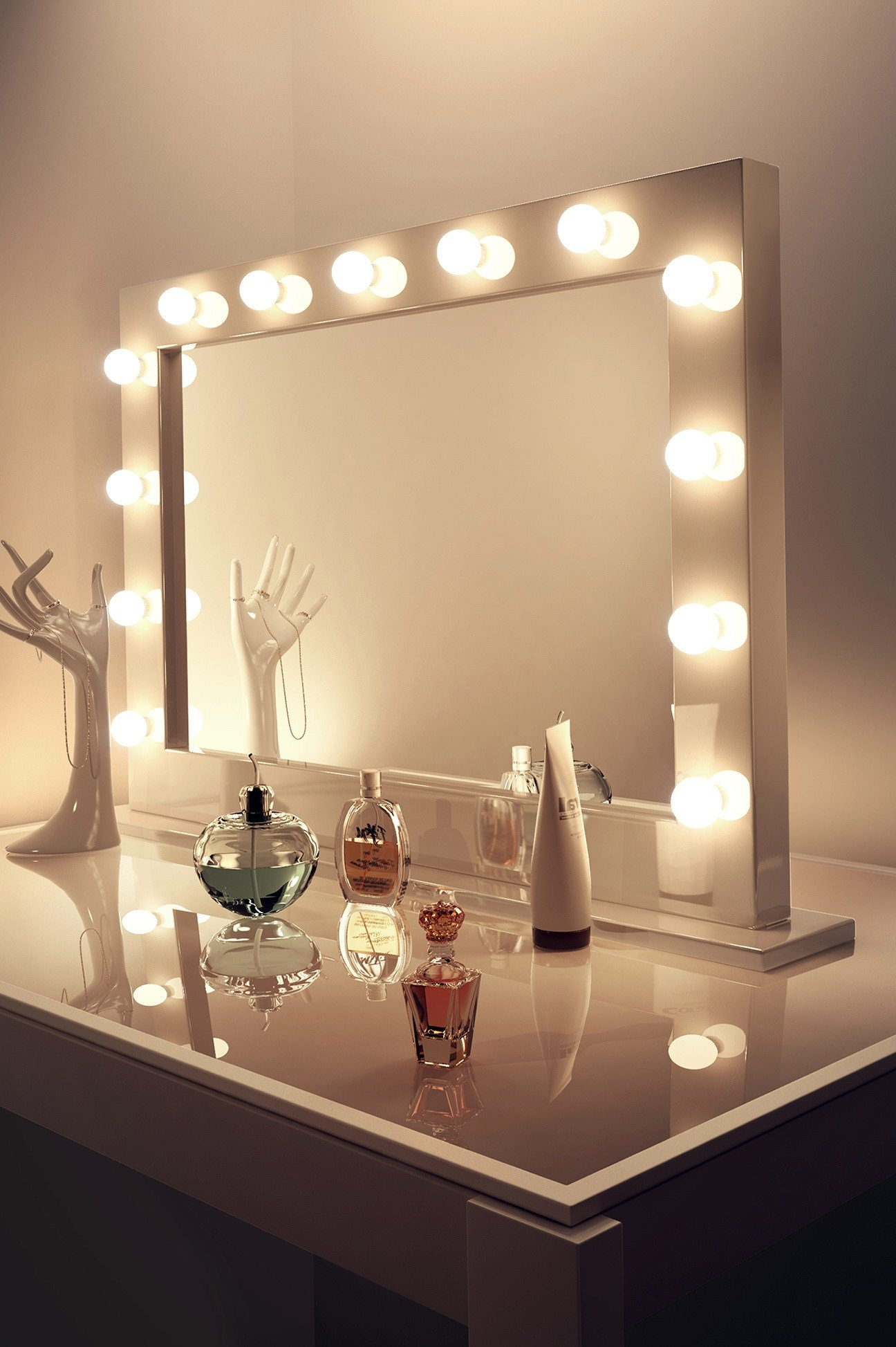 Best Makeup Mirrors With Lights Around Them Home Design Ideas With Pictures