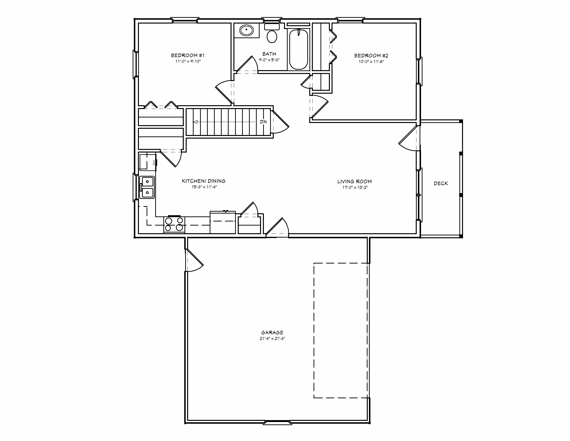 Best Small House Plan D67 884 Small 2 Bedroom Houseplan Cabin With Pictures