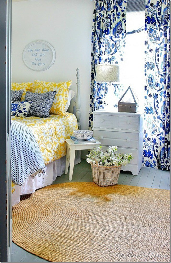 Best Blue And Yellow Farmhouse Bedroom Thistlewood Farm With Pictures