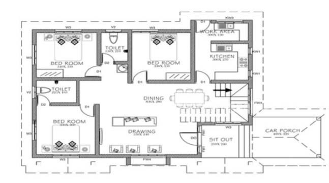 Best 861 Square Feet 3 Bedroom Single Floor Low Cost Home With Pictures
