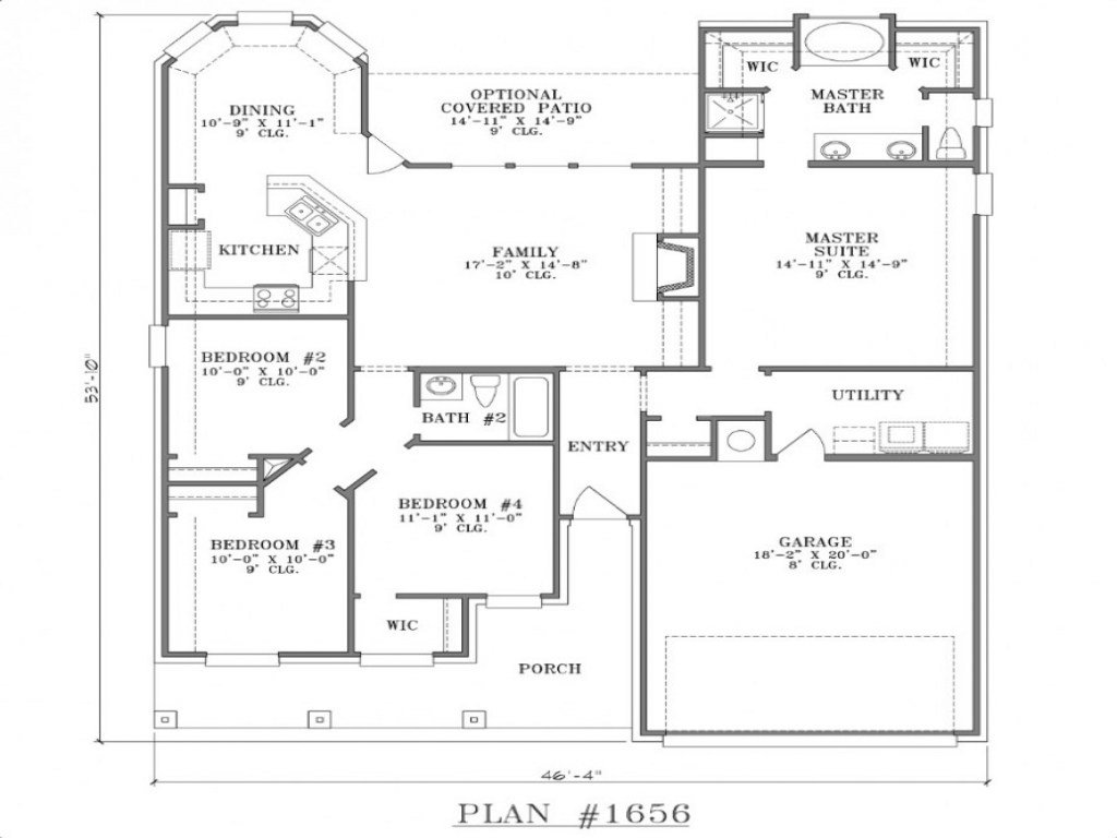 Best Small Two Bedroom House Floor Plans Large Two Bedroom With Pictures